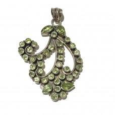 Peridot  jemstones set in Sterling Silver