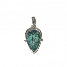 Chrysocolla Jem Stone set in Sterling Silver