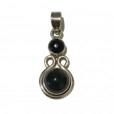 Black Onyx Jemstone set in Sterling Silver SOLD