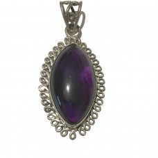 Amethyst Jemstone set in Sterling Silver