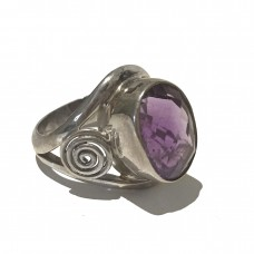 Amethyst Ring set in Sterling Silver ( Size 11) SOLD