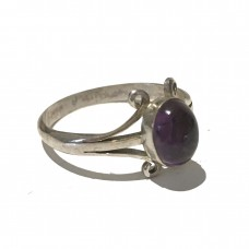 Amethyst Ring set in Sterling Silver (size 11)