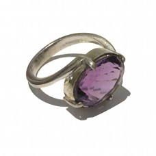 Amethyst Ring set in Sterling Silver (size 10)
