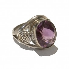 Amethyst Ring set in Sterling Silver ( size 9)
