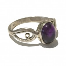 Amethyst Ring set in Sterling Silver ( size 11)