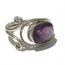 Amethyst Ring set in Sterling Silver (size9) SOLD