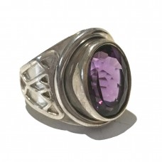 Amethyst Ring set in Sterling Silver (size 9)
