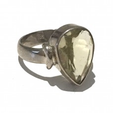 Citrine Ring set in Sterling Silver (size 11)