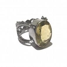 Citrine Jemstone set in Sterling Silver (size11)