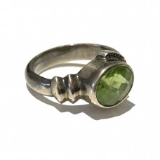 Peridot  jemstone set in Sterling Silver (size 10)