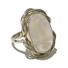 Moonstone jemstone set in Sterling Silver (size 11)