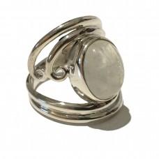 Moonstone jemstone set in Sterling Silver ( size 9)